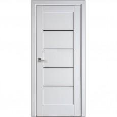 Межкомнатная дверь Мира с чёрным стеклом (ПП)