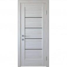 Межкомнатная дверь Мира с чёрным стеклом (ПВХ)