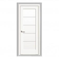 Межкомнатная дверь Мира со стеклом сатин (ПП)