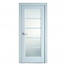 Межкомнатная дверь Муза со стеклом сатин (ПП)
