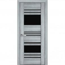 Межкомнатная дверь Ницца с чёрным стеклом (ПВХ Viva)