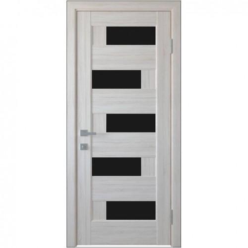 Межкомнатная дверь Пиана с чёрным стеклом (ПВХ)