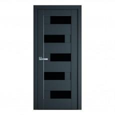 Межкомнатная дверь Пиана со стеклом BLK (ПП)