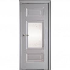 Межкомнатная дверь Шарм со стеклом сатин + Р2 без молдинга (ПП)