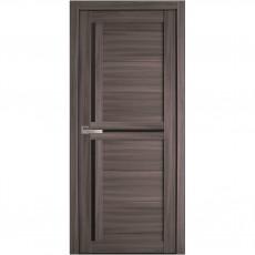 Межкомнатная дверь Тринити с чёрным стеклом