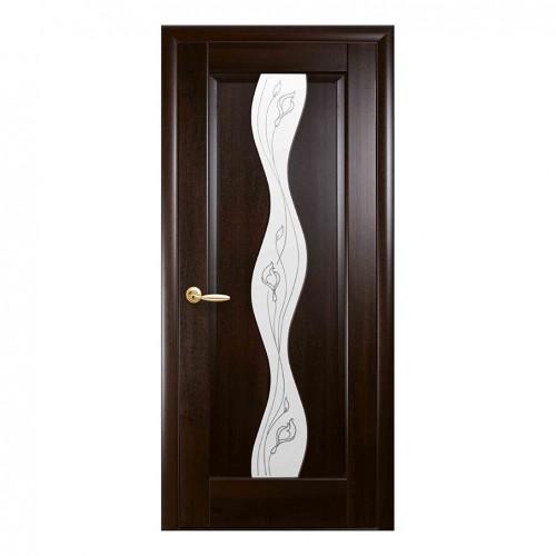 Межкомнатная дверь Волна со стеклом сатин (ПВХ)
