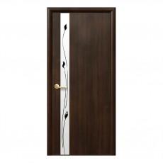 Межкомнатная дверь Злата (ПВХ) со стеклом