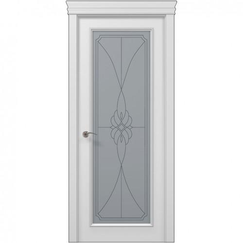 Межкомнатная белая дверь ART-01 (бевелс) ПАПА КАРЛО