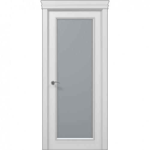 Межкомнатная белая дверь ART-01 (сатин) ПАПА КАРЛО
