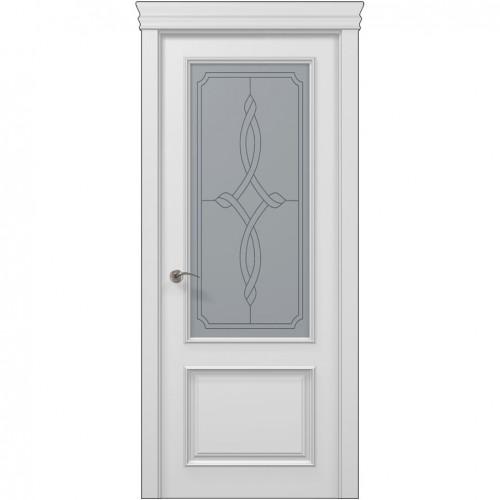 Межкомнатная белая дверь ART-02 (бевелс) ПАПА КАРЛО