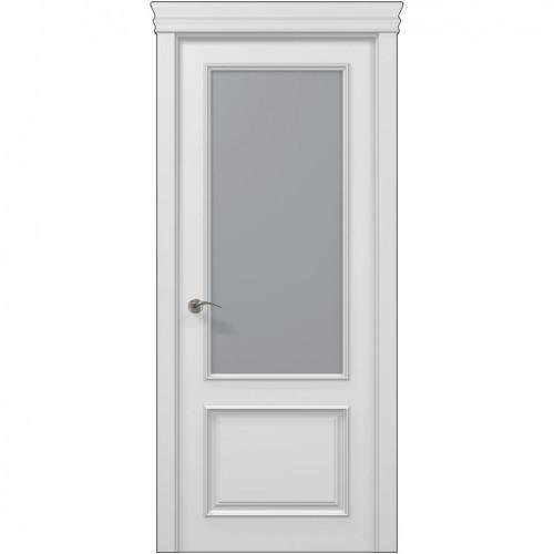 Межкомнатная белая дверь ART-02 (сатин) ПАПА КАРЛО