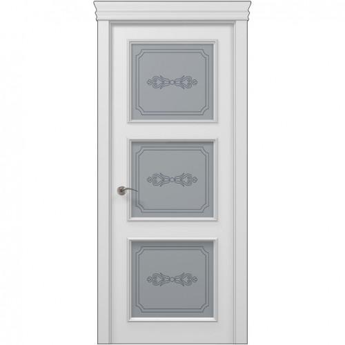 Межкомнатная белая дверь ART-03 (бевелс) ПАПА КАРЛО