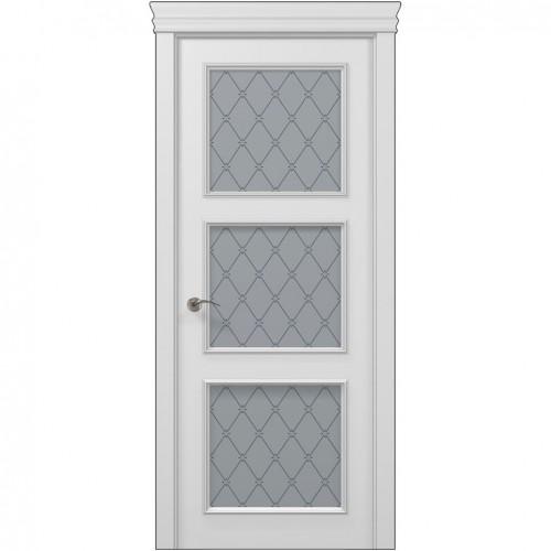 Межкомнатная белая дверь ART-03 (оксфорд) ПАПА КАРЛО