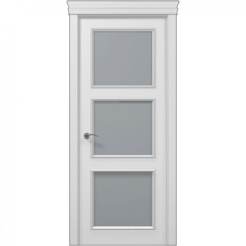 Межкомнатная белая дверь ART-03 (сатин) ПАПА КАРЛО