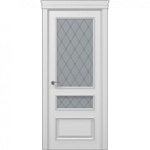 Межкомнатная белая дверь ART-05 (оксфорд) ПАПА КАРЛО