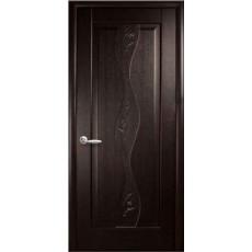 Дверь Волна (Маэстра) ПВХ глухая с гравировкой