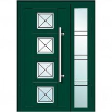 Входные двери со стеклом в дом Альянс БЦ Магнат А11 (двойные)