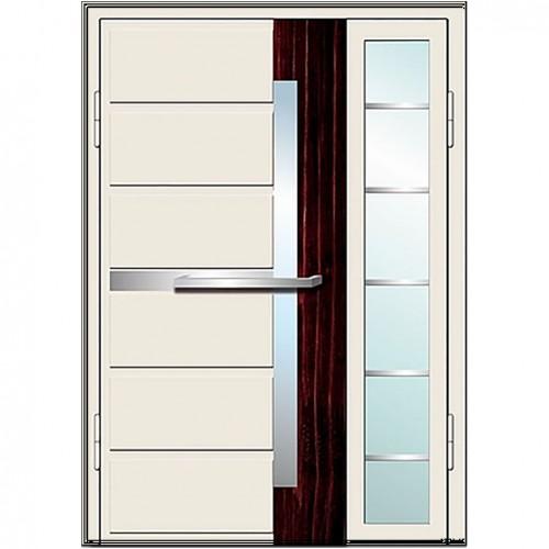 Входные двери со стеклом в дом Альянс БЦ Магнат А12 (двойные)