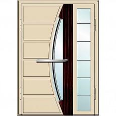 Входные двери со стеклом в дом Альянс БЦ Магнат А13 (двойные)