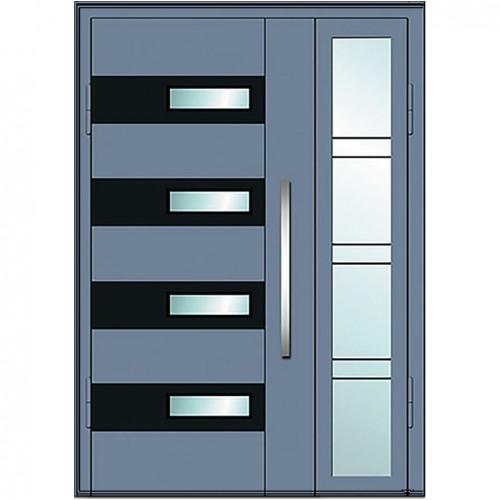 Входные двери со стеклом в дом Альянс БЦ Магнат А15 (двойные)