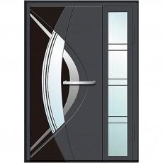 Входные двери со стеклом в дом Альянс БЦ Магнат А16 (двойные)