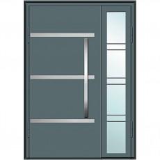 Входные двери со стеклом в дом Альянс БЦ Магнат А1 (двойные)