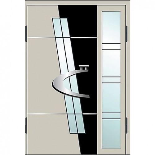 Входные двери со стеклом в дом Альянс БЦ Магнат А22 (двойные)