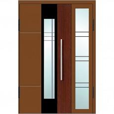 Входные двери со стеклом в дом Альянс БЦ Магнат А23 (двойные)