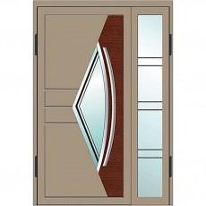 Входные двери со стеклом в дом Альянс БЦ Магнат А25 (двойные)