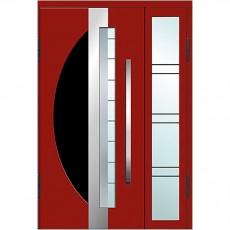 Входные двери со стеклом в дом Альянс БЦ Магнат А26 (двойные)