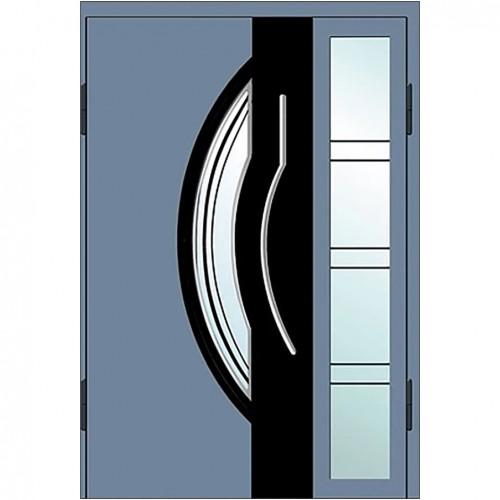 Входные двери со стеклом в дом Альянс БЦ Магнат А27 (двойные)