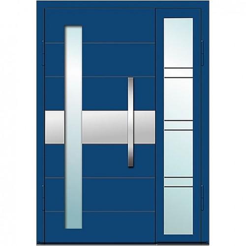 Входные двери со стеклом в дом Альянс БЦ Магнат А2 (двойные)