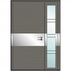 Входные двери со стеклом в дом Альянс БЦ Магнат А3 (двойные)