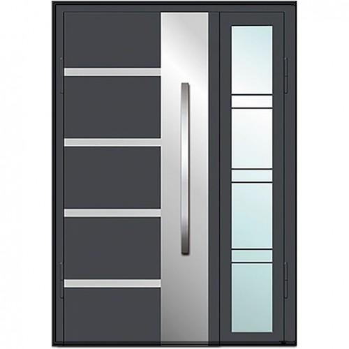 Входные двери со стеклом в дом Альянс БЦ Магнат А5 (двойные)