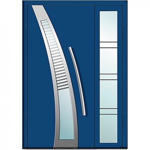 Входные двери со стеклом в дом Альянс БЦ Магнат А9 (двойные)