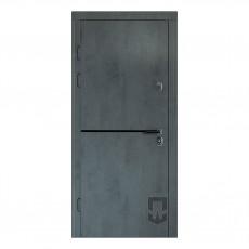 Входные двери ПАТРИОТ LITA BLACK PS в квартиру МДФ