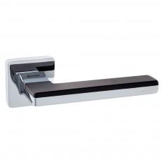 Ручка дверная ТМ System LARISSA Хром / Хром / Черные вставки