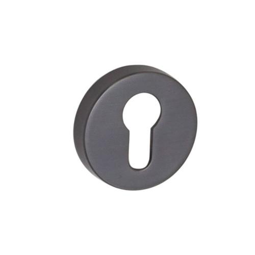 Накладка под цилиндр ТМ SYSTEM черный матовый никель