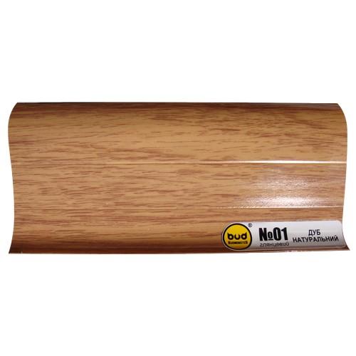 Плинтус 2,5м BudMonster дуб натуральный (20шт/уп)