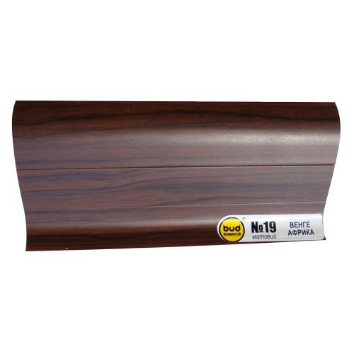 Плинтус мат. 2,5м BudMonster венге африка (20шт/уп)