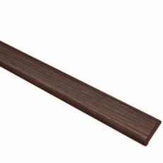 Притворная планка ПВХ (Н. Стиль) 35*8 мм (д/двой двер.)